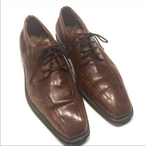 Stacy Adams Men's Brown Leather Oxfords 10.5